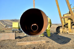 New gas pipeline Stock Images