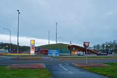 New gas station in Pesse Royalty Free Stock Photography