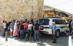 New Gate blocked after attack on Temple Mount Stock Images