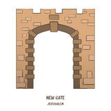 New Gate in Jerusalem. Vector Stock Photography