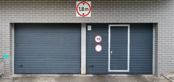 New gate on the modern city parking Royalty Free Stock Images