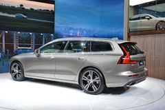 88th Geneva International Motor Show 2018 - Volvo V60 Estate royalty free stock photography