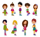 New generation. Colorful graphic illustration for children Stock Photo