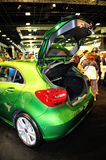 The new generation of the Mercedes-Benz A-Class on display during the Singapore Motorshow 2016 Stock Photography