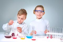 New generation of scientists Stock Photos