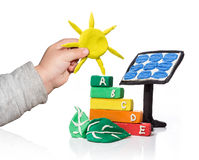 New generation that thinks of the photovoltaic Royalty Free Stock Photo