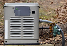 New Generator. A home backup generator for use during power outages Stock Image