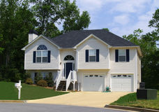 New Georgian Home. A newly constructed home in a suburban Atlanta development Royalty Free Stock Photography