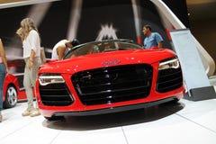 New german super cabrio at auto show Royalty Free Stock Photos