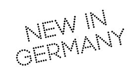 New In Germany rubber stamp. Grunge design with dust scratches. Effects can be easily removed for a clean, crisp look. Color is easily changed Stock Photos
