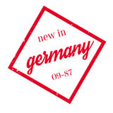 New In Germany rubber stamp. Grunge design with dust scratches. Effects can be easily removed for a clean, crisp look. Color is easily changed Royalty Free Stock Images