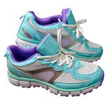 New girl sport indoor shoes Royalty Free Stock Photos