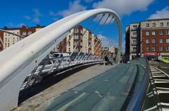 New glass bridge in dublin Royalty Free Stock Images