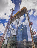 New glass building construction site Royalty Free Stock Photo