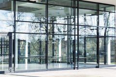 New glass building, toned image Royalty Free Stock Photos