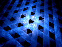 New glowing blue grid in space Stock Photos