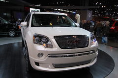 New GM Acadia. GM exposition at Chicago auto show 2011 Royalty Free Stock Photos