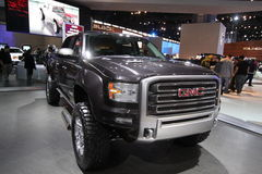 New GMC Sierra. GMC exposition at Chicago auto show 2011 Stock Images