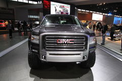 New GMC Sierra. GM exposition at Chicago auto show 2011 Royalty Free Stock Images