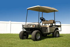 New Golf Cart. Ready to hit the course Stock Image