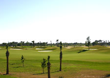New Golf Course. Newly constructed golf course in the tropics Lots of space for writing stock photo