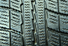 New good winter tire closeup Royalty Free Stock Photography