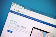 New Google Maps. The new Google Maps fundamentally updated Royalty Free Stock Images