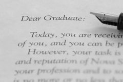 New grad letter 2 Royalty Free Stock Photos