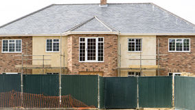 New grand English mansion house being built Stock Photos