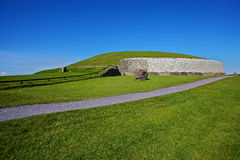 New Grange - Lateral. Lateral view of the New Grange burial site, in Ireland stock image