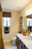 New Granite Countertops in Small Bathroom Royalty Free Stock Photography