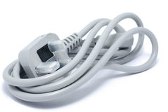 New gray power cable Stock Image