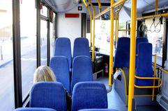 NEW GREEN AIR IN BUS Stock Photo