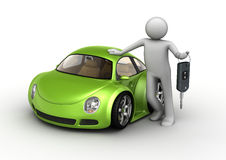 New green car Royalty Free Stock Image