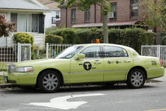 New green-colored Boro taxi in New York Royalty Free Stock Photo