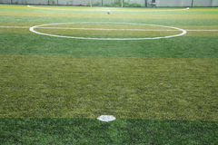 New Green grass soccer field Royalty Free Stock Images