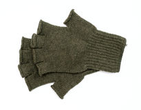 New Green Knit Wool Gloves Stock Photos