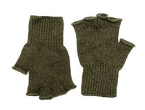 New Green Knit Wool Gloves Royalty Free Stock Photography