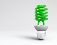 New green light. The new bilb ligth, ecology, environmental conservation Royalty Free Stock Image