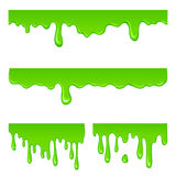 New green slime set. On a white vector illustration