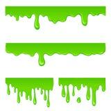 New green slime set. On a white Stock Photos