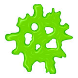 New green slime sign Stock Photography