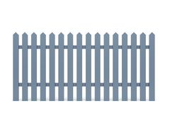 New grey fence Royalty Free Stock Photos