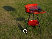Empty barbecue ready for spring season Royalty Free Stock Photo