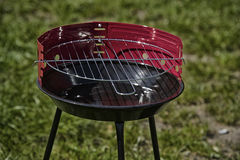 New grill ready to use in garden Royalty Free Stock Photos