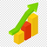 New growth chart isometric 3d icon Royalty Free Stock Photography