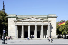 New Guardhouse in Berlin - Neue Wache. People in front to New Guardhouse in Berlin - Central Memorial of the Federal Republic of Germany for the Victims of War Stock Image