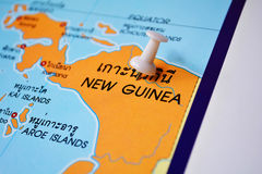 New guinea map Stock Photos