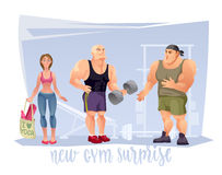 New Gym Surprise. Stock Photography