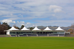 New Hagley Oval Cricket Pavilion Opened in Christchurch. New Hagley Oval Cricket Pavilion Opened in Hagley Park 3 months before the 2015 Cricket World Cup starts Royalty Free Stock Images